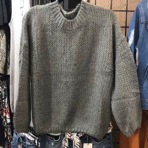 Gray Chunky Sweater